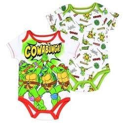 d7656ce19 Nick Jr Teenage Mutant Ninja Turtles Cowabunga Baby Boys Onesie Set Space  City Kids Clothing Store
