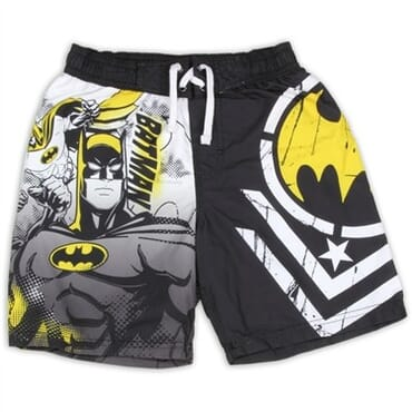 816c19bcea DC Comics Batman The Dark Knight Boys Swim Shorts Space City Kids Clothing