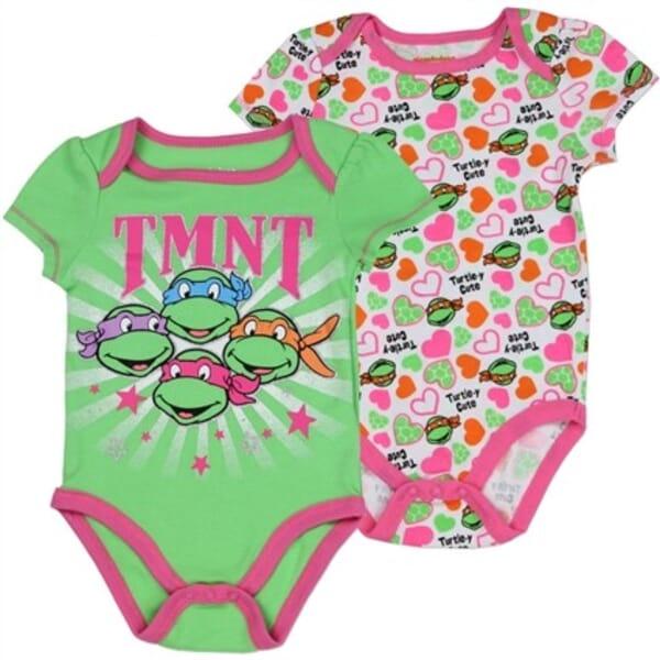 41365bd1d Teenage Mutant Ninja Turtles Turtley Cute Baby Girls Onesie Set