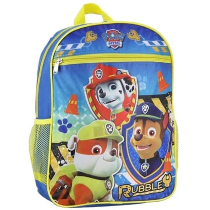 Kids Official Paw Patrol Shoulder Backpack with Marshall Chase Rubble 3 Image