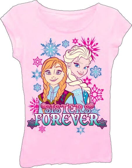 M Printed 100/% Cotton 5 to 6 T Shirt Disney Frozen Strong Bond