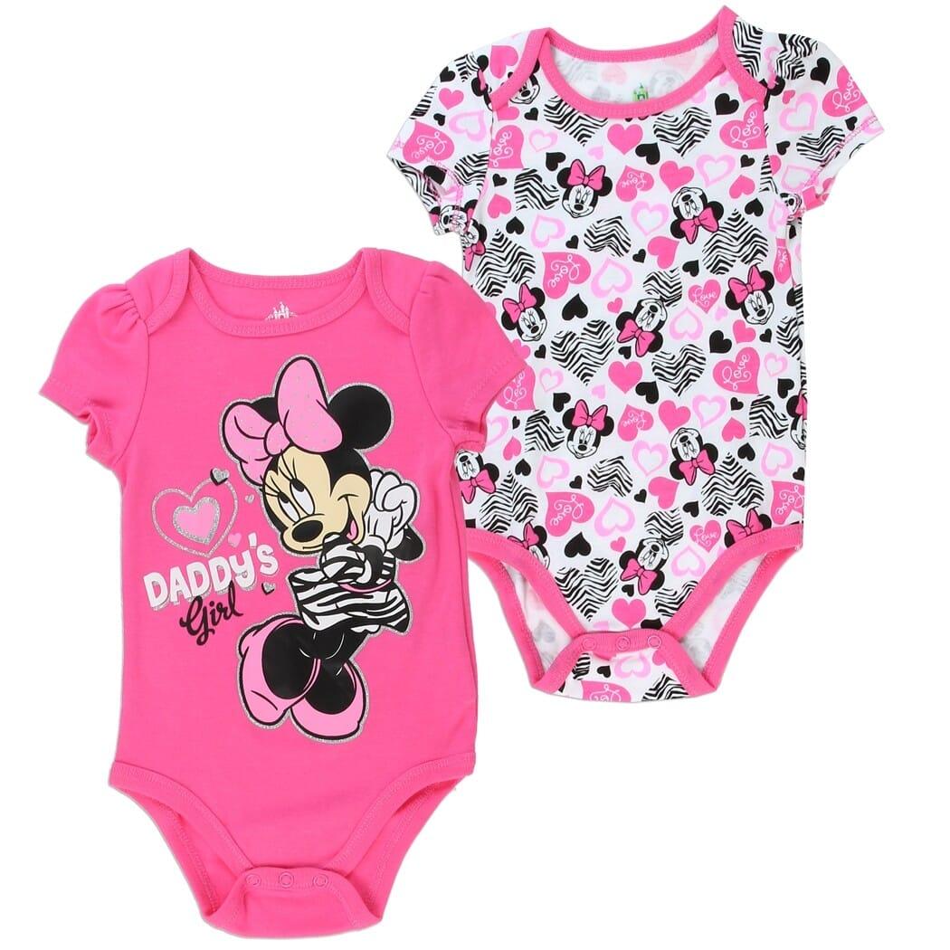 2-SET WINNIE THE POOH PIGLET /& MINNIE Creeper Baby Girl Disney Pink Clothing NEW