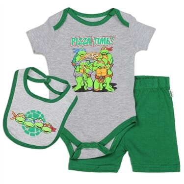 """Ninja Turtles One Piece Outfit """"PARTY AT MY CRIB"""" Nickelodeon 0//3 or 6-9 Month"""