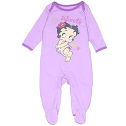 313f0096e Betty Boop Baby Boop So Adorable Light Purple Footed Sleeper
