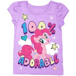 03e50471 My Little Pony Pinkie Pie 100% Adorable Puff Sleeve Toddler Girls Shirt  Space City Kids