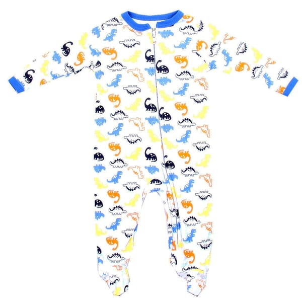 422f652a7 Weeplay Baby Boys Dinosaurs Jersey Coverall Footed Sleeper Space City Kids  Clothing Store. Loading zoom