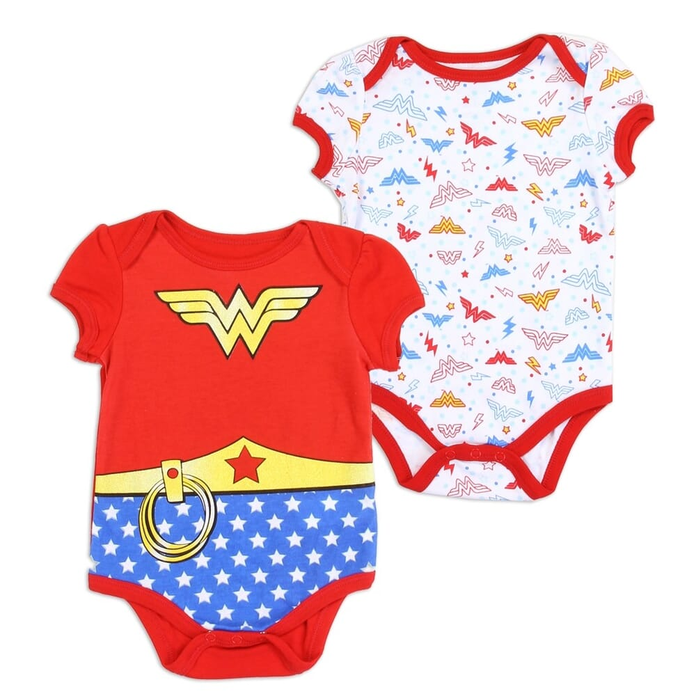 Wonder Woman 2 Pack Onesie Set Wonder Woman Baby Clothes