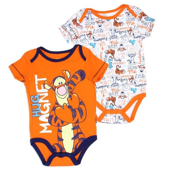 54bab2c9d Disney Winnie The Pooh Tigger Hug Magnet Onesie 2 Piece Set