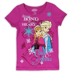 31d17f6b6 Disney Frozen Anna And Elsa Strong Bond Strong Heart Top Space City Kids  Clothing Store