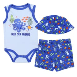 f83bddf0c Weeplay Deep Sea Friends Baby Boys 3 Piece Short Set Space City Kids  Clothing Store