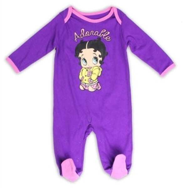 f05f3c734 Betty Boop Baby Boop Adorable Footed Sleeper | Baby Boop Baby Clothes