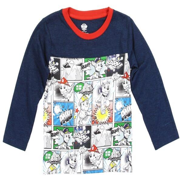 a07fb252 Nick Jr Paw Patrol Comic Strip Print Long Sleeve Toddler Boys Shirt