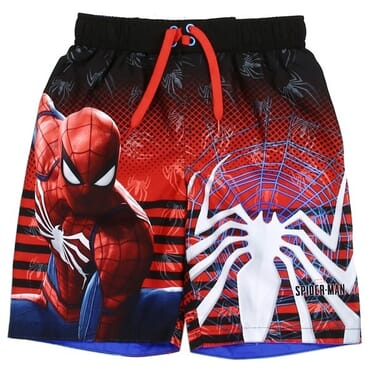 5ea7d4deeb Marvel Comics Spider Man And Spider On Spider Web Boys Swim Trunks Space  City Kids Clothing